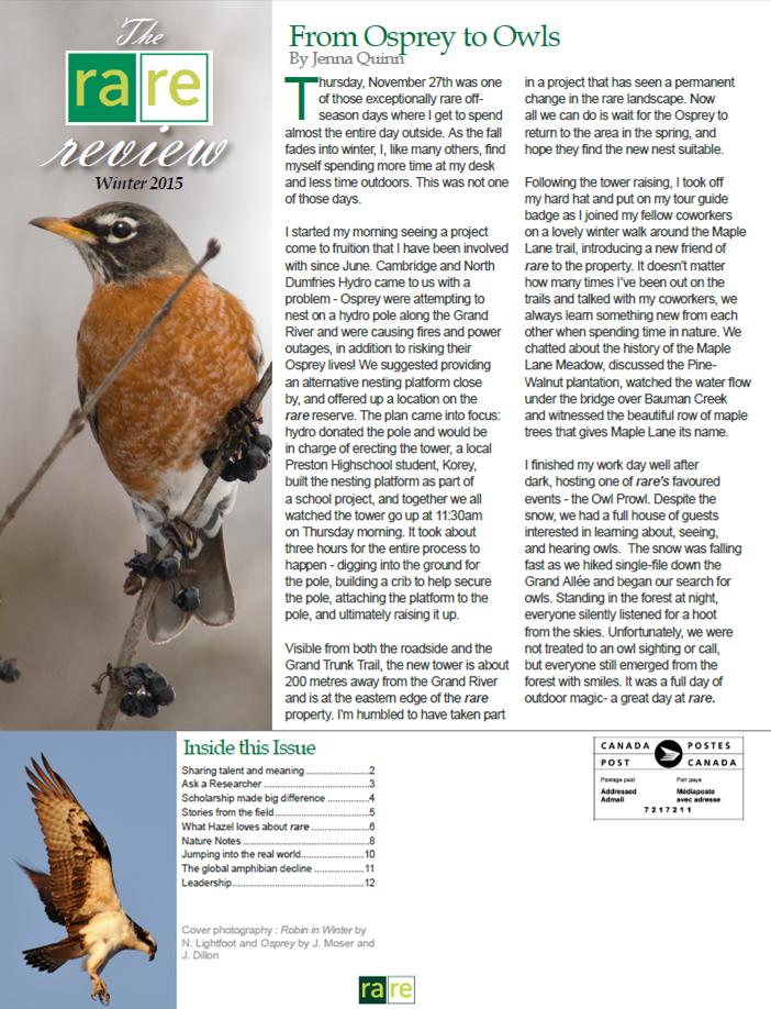 Winter 2015 Newsletter Front for Website