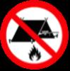 No camping fixed